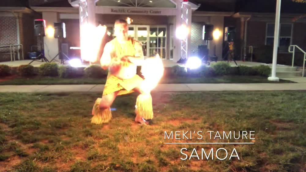 Samoan Flaming Fire Knife Dance