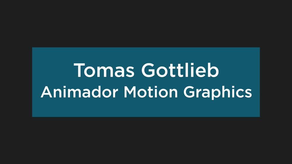 Tomas Gottlieb reel motion graphics