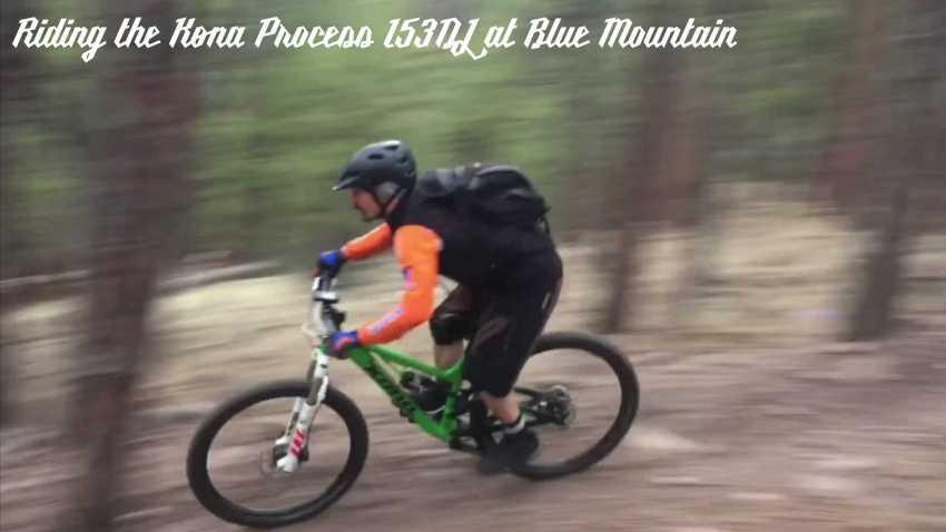 Riding the Kona Process 153DL at Blue Mountain